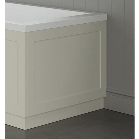 Traditional Bathroom 800mm End Bath Panel 18mm MDF Wood Ivory Plinth Easy Cut