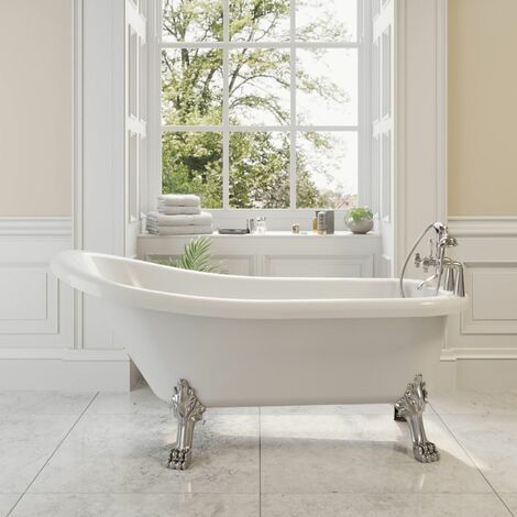 Traditional Buxton Freestanding Bath Single Ended Dragon Feet 1700 Acrylic White
