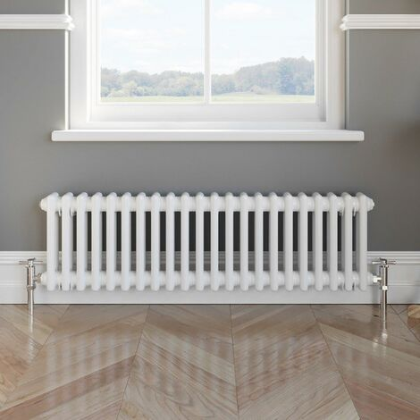 Traditional Colosseum Horizontal Double Bar Radiator 300x1000mm