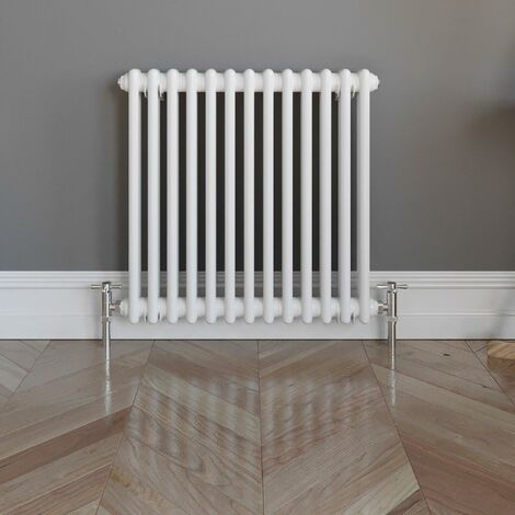 Traditional Colosseum Horizontal Double Radiator 600x600mm White