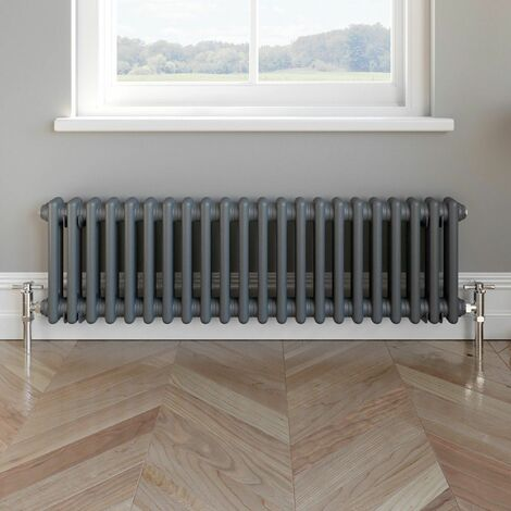 Traditional Colosseum Horizontal Radiator 300x1000mm Anthracite