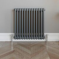 Traditional Colosseum Horizontal Radiator 600x600mm Anthracite