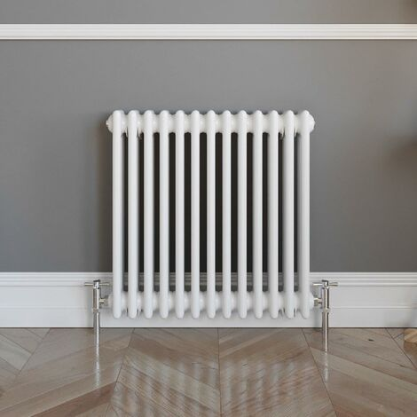 Traditional Colosseum Horizontal Triple Radiator 600x600mm White