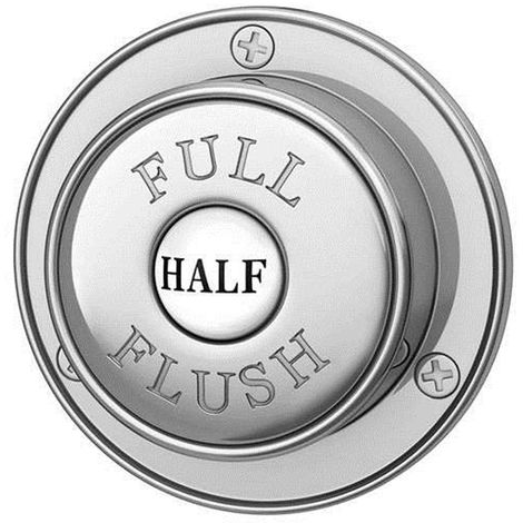 Traditional Dual Flush Push Button