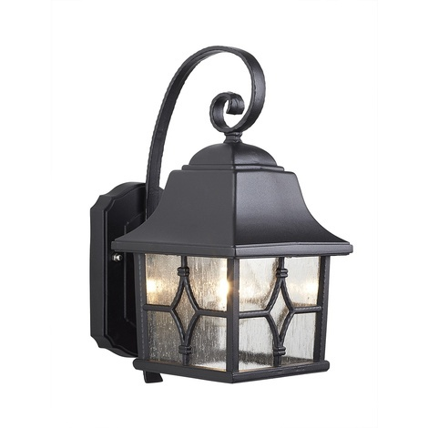 Traditional Exterior Wall Lantern In Black by Washington Lighting