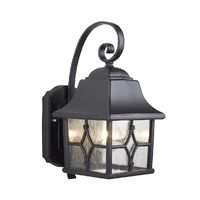 Traditional Exterior Wall Lantern In Black by Washington Lighting