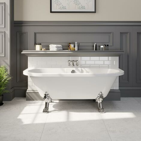 Traditional Freestanding Roll-Top Bath Double Ended Dragon Feet 1700 Winchester