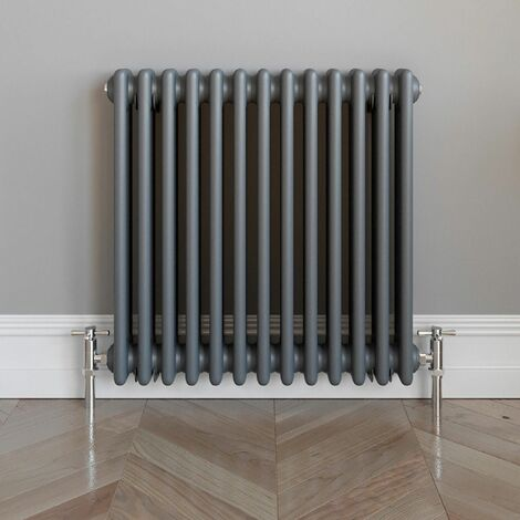 Traditional Horizontal Triple Bar Radiator 600x600 Anthracite