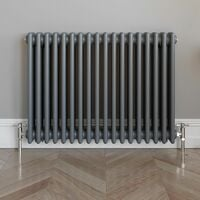Traditional Horizontal Triple Radiator 600x800mm Anthracite
