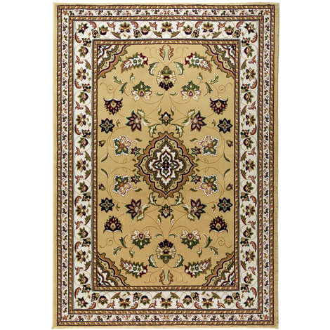 Traditional Oriental Classic Design Quality Sherborne Rug in Beige
