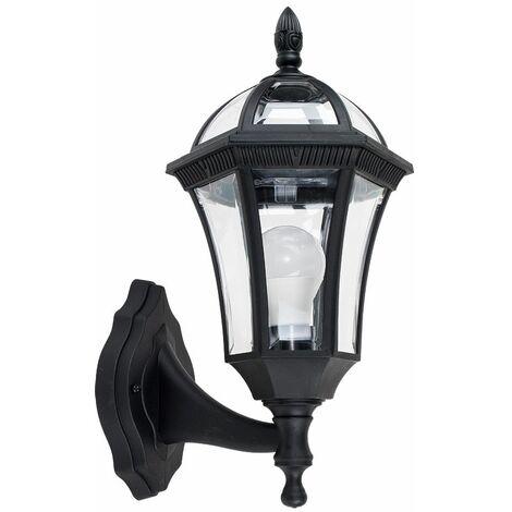 Traditional Outdoor Garden Wall Light Lantern Coach Lighting Vintage Ip44 Lamp - Black