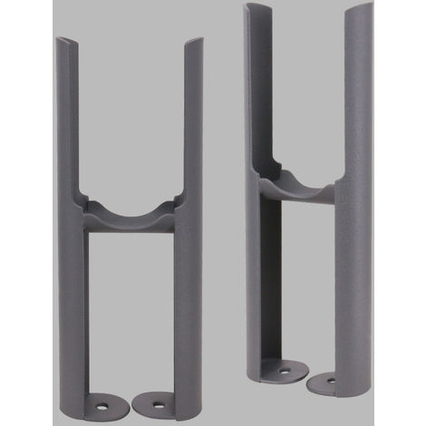 Traditional Radiator 2 Column Anthracite Floor Mounting Legs 2PC/Set
