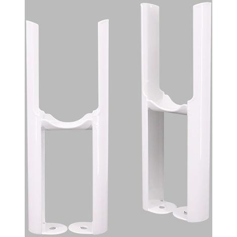 Traditional Radiator 2 Column White Floor Mounting Legs 2PC/Set