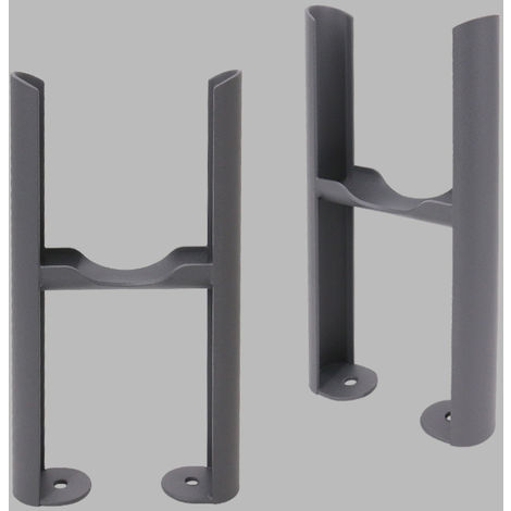 Traditional Radiator 3 Column Anthracite Floor Mounting Legs 2PC/Set