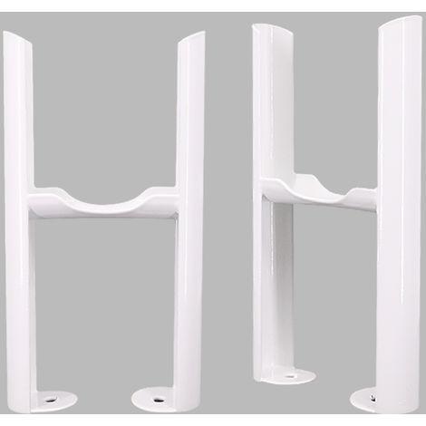 Traditional Radiator 3 Column White Floor Mounting Legs 2PC/Set
