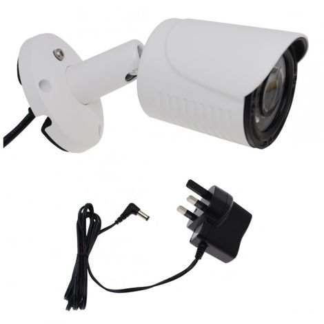 Traditional Real Dummy CCTV Camera with Power Supply. [002-0710]