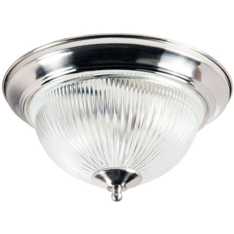 Traditional Satin Chrome IP44 Bathroom Ceiling Light Fitting by Happy Homewares