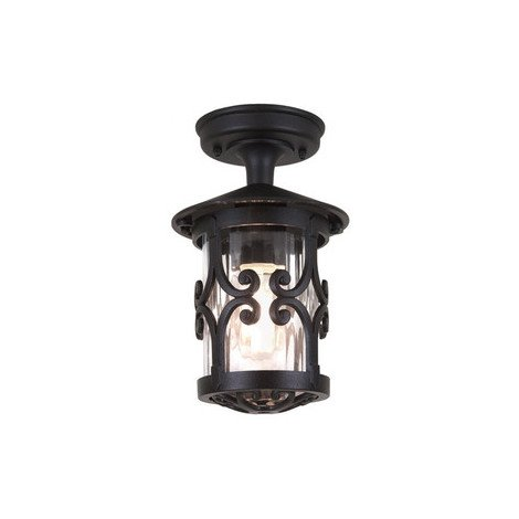 Traditional Small Tube Outdoor Porch Ceiling Lantern by Washington Lighting