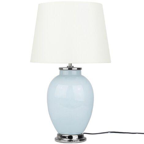 Traditional Table Lamp Bedside Lamp Ceramic Base Empire Shade Blue Brenta