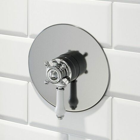 Traditional Thermostatic Control Concealed Shower Valve Triple Outlet Chrome
