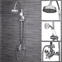 Traditional Thermostatic Mixer Shower Crosshead Valve Drench Head
