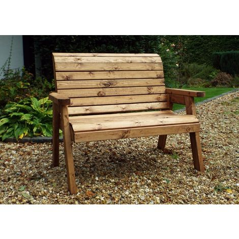 Traditional Two Seater Bench, fully assembled