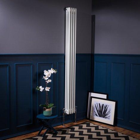 Bern 1800 x 200mm White Triple Vertical Column Radiator - please select - please select