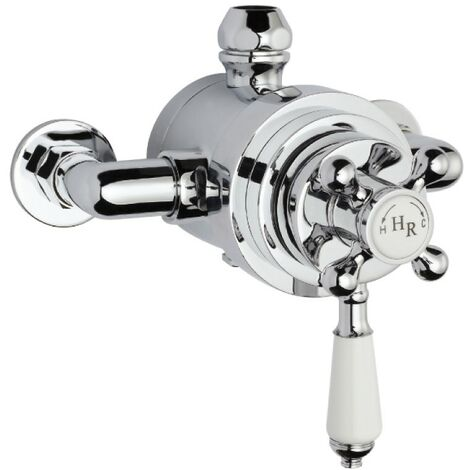 """main image of """"Traditional Victorian Chrome Thermostatic Dual Exposed Shower Valve"""""""