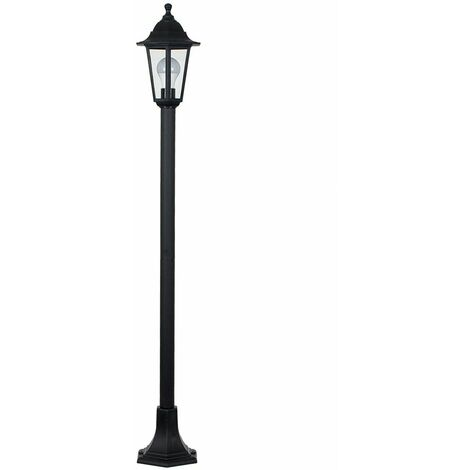 Traditional Vintage Outdoor Garden Lamp Post Lantern - Black