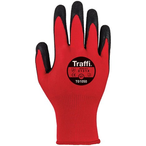 Traffiglove TG1050 Centric 1 Cut Level 1 Red Safety Gloves Large Size 9 (pack Of 10)