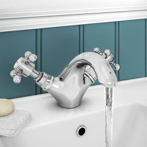 """main image of """"Trafford Traditional Basin Mixer Tap & Waste Chrome"""""""