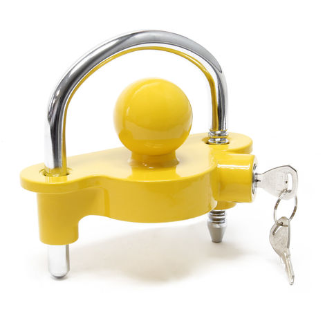 Trailer Lock Protection with Shackle against Theft for 50mm Coupling Inlet