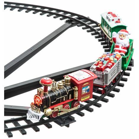 Train de Noël électrique - A poser dans le sapin - 4 pièces - Livraison gratuite