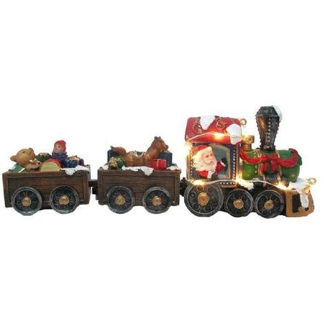 Train du pere Noël avec jouets lumineux - 6.8 x 19 cm Aucune