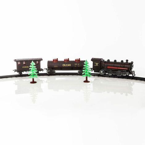 Train électrique 17 pièces du village de Noël - Marron