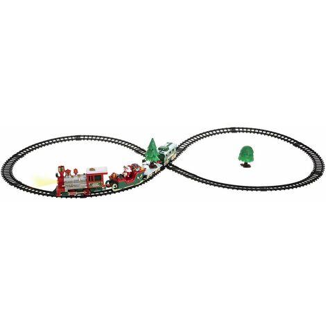 Train électrique 22 pièces du village de Noël - Rouge
