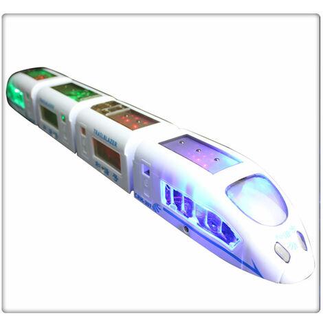 Train électrique pour enfants - Avec éclairage LED et musique. Grand cadeau d'anniversaire, cadeau pour garçons et filles à partir de 3 ans
