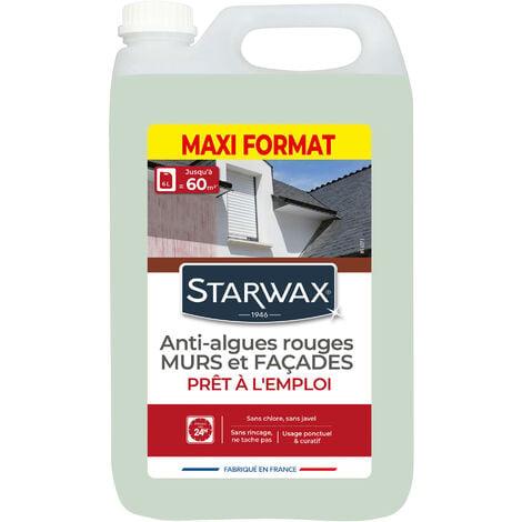 """main image of """"Traitement anti-algues rouges prêt à l'emploi pour murs et façades 6L STARWAX"""""""