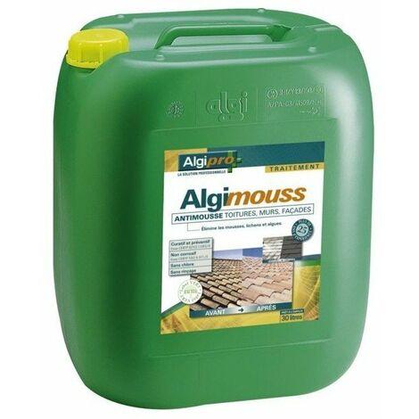 Traitement antimousse algimouss demoussant - bidon de 30 l