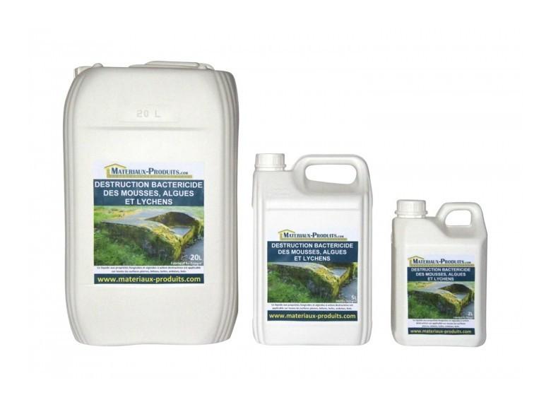 Traitement bactéricide des mousses, algues et lichens - 20 L Incolore