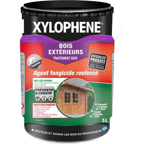 Traitement Bois Extérieurs, Incolore, 5L, Xylophene - Incolore