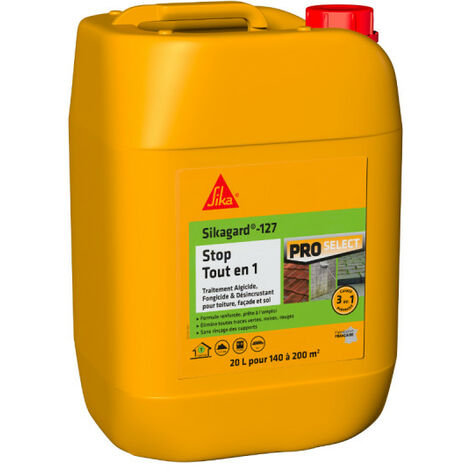 Traitement curatif et désincrustant SIKA SikaStop Tout en 1 - 20L - Transparent