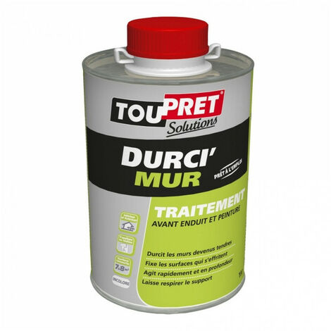Traitement Durci'Mur liquide - incolore - 1L TOUPRET