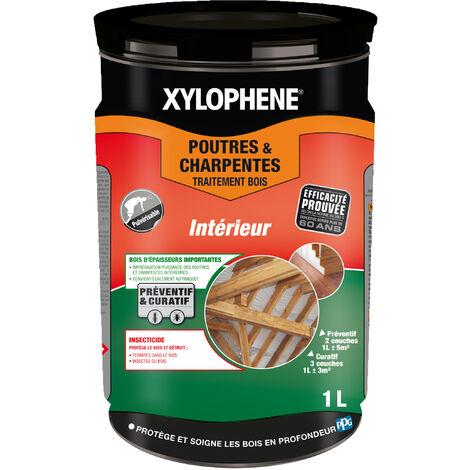 Traitement Poutres & Charpentes, Incolore, 1L, Xylophene - Incolore
