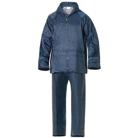 Traje de agua impermeable azul nylon talla 9-xxl