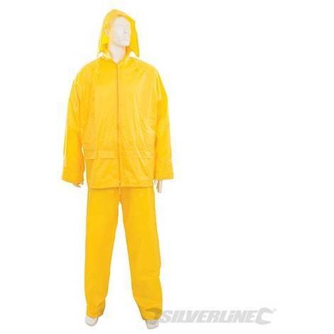 Traje impermeable color amarillo, 2 pzas