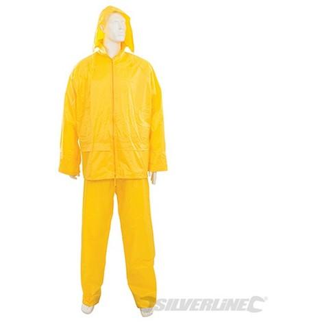 Traje impermeable color amarillo. 2 pzas (Talla L 74 - 130 cm)