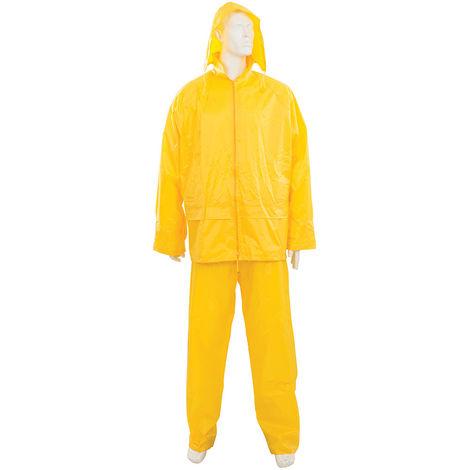 Traje impermeable color amarillo, 2 pzas Talla M 72 - 126 cm - NEOFERR..