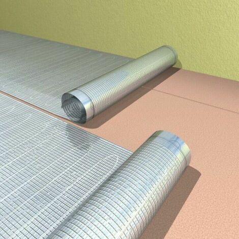 Trame chauffante d'aluminium 140w/m² sous revêtement de sol stratifié