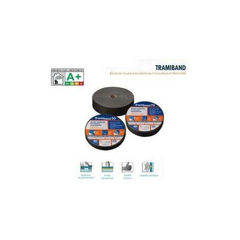 TRAMIBAND, bande mousse acoustique plancher, rouleau 30m, larg 70/ 3 mm TRAMICO - 2936230000.